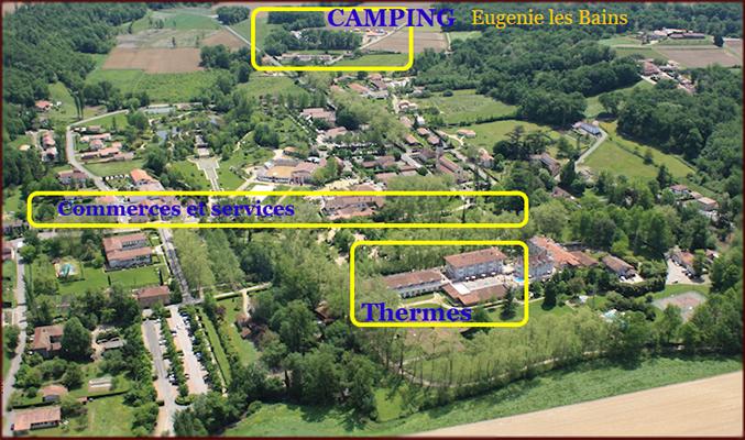 Situation eugenie les bains camping des sources - Location cure eugenie les bains ...