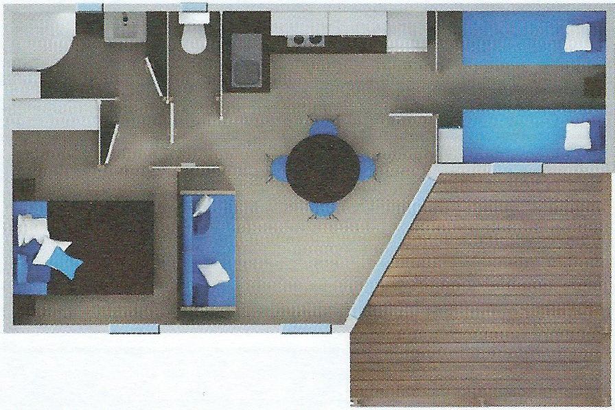 Plan de nos Chalets 2 chambres