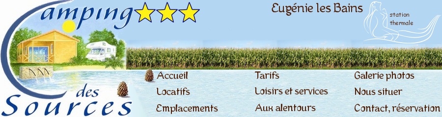 Camping eug nie les bains camping des sources camping 3 - Location cure eugenie les bains ...